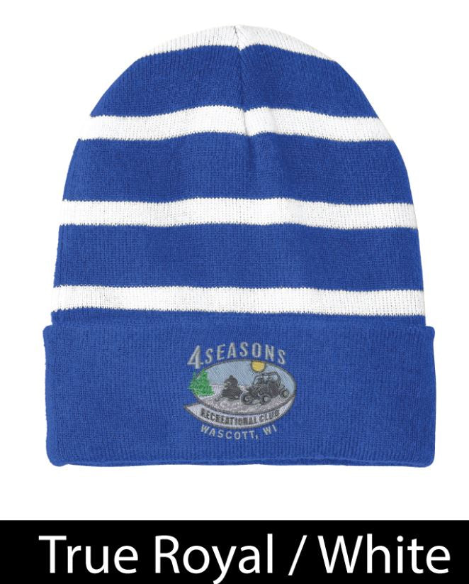 FSRC EMB STC31 Sport-Tek® Striped Beanie with Solid Band