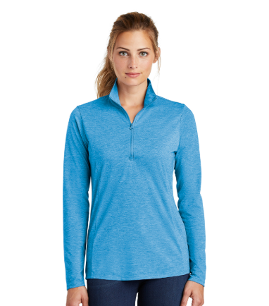 MMC LST407 Sport-Tek Ladies Tri-Blend 1/4 Zip-up Pullover