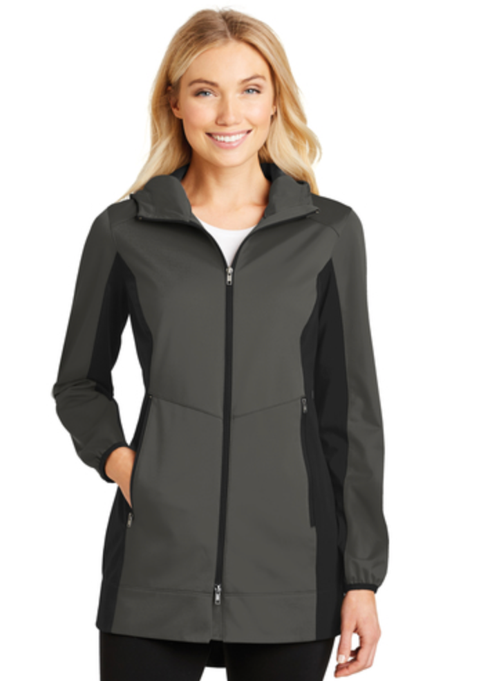 MMC L719 Ladies Active Hooded Longer Length Soft Shell Jacket
