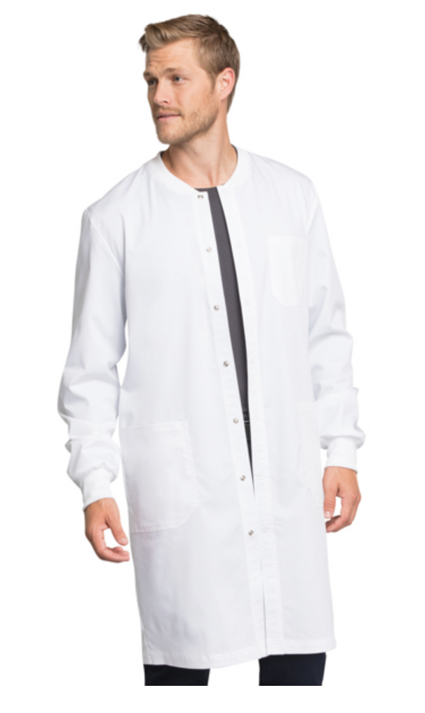 "OUT OF STOCK UNISEX Cherokee Workwear Revolution Tech 40"" Snap Front Lab Coat WW350AB"
