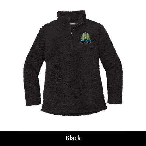 Telemark L 130 Port Authority Ladies Sherpa 1/4 Zip Fleece Pullover