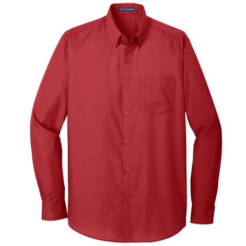 Key Choice Long Sleeve Carefree Poplin Shirt Men's