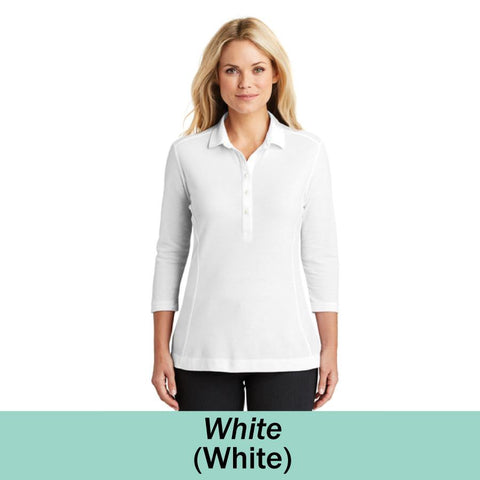 HAMH LK581 Port Authority Ladies Coastal Cotton Blend Polo