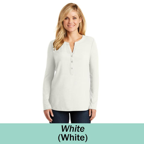 HAMH LK5432 Ladies Port Authority Concept Henley Tunic