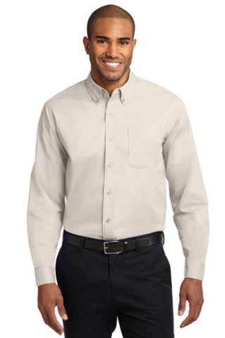 MMC Port Authority Adult Long Sleeve Easy Care Shirt S608 -- Light Stone