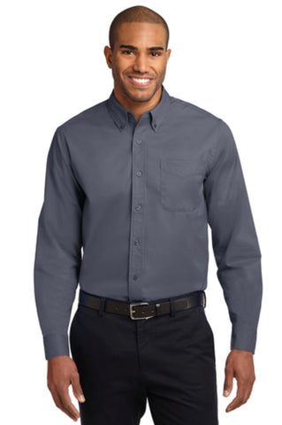 NLCC Port Authority Adult Long Sleeve Easy Care Shirt S608 -- Steel Grey