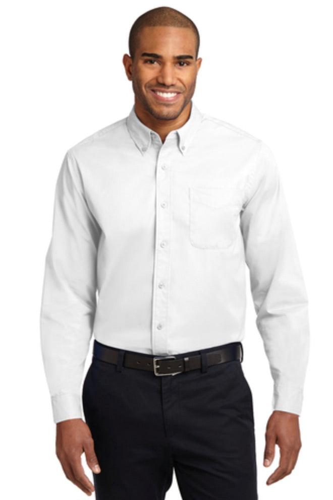 MMC Port Authority Adult Long Sleeve Easy Care Shirt S608 -- White