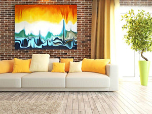 Sunrise Abstract Art Canvas Hand Painted Original
