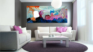 South Coast Pastel Abstract Art Canvas Hand Painted Original