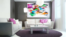 Load image into Gallery viewer, A Racing World Abstract Art Canvas Hand Painted Original