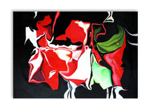 Load image into Gallery viewer, Fireworks Abstract Art Canvas Hand Painted Original