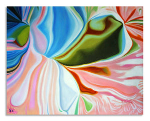 Pastel Bloom Abstract Art Canvas Hand Painted Original