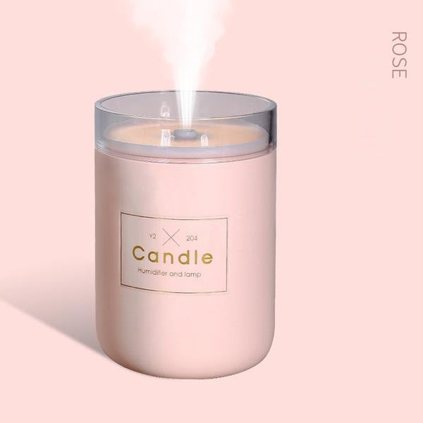 Air Humidifier Candle Diffuser Oil Burner USB 280ML