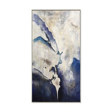 Load image into Gallery viewer, Abstract Hand Painted 'Blue Black Haze' Wall Art