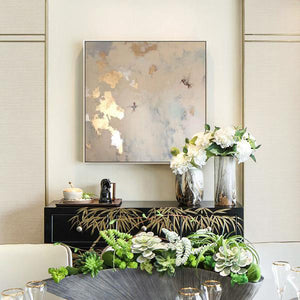 Abstract Hand Painted 'Golden Pastels' Wall Art