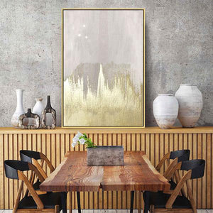 Abstract hand painted 'Gold Brush' Wall Art