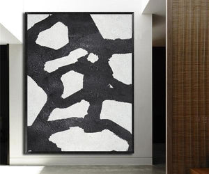 Abstract Hand Painted 'Ink 3' Wall Art