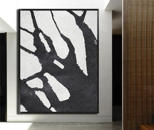 Abstract Hand Painted 'Ink 1' Wall Art