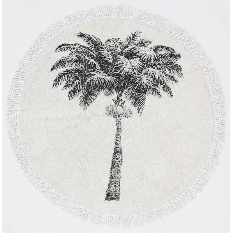 Vintage Palm Tree Mat / Rug
