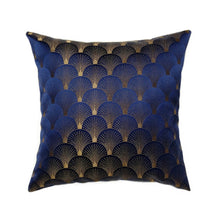 Load image into Gallery viewer, Cushion Gold Art Deco Geometric Shell Pattern