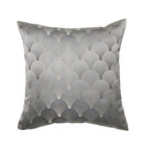 Cushion Gold Art Deco Geometric Shell Pattern