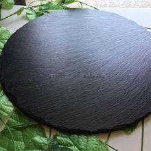 Load image into Gallery viewer, Black Natural Solid Stone Slate Serving Food Platter