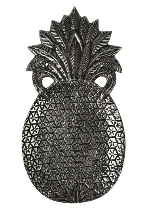 Pineapple Tray in Antique Silver - Big