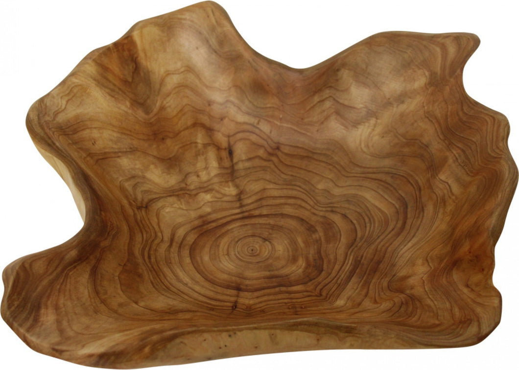 Hand Carved Wooden Bowl - Large