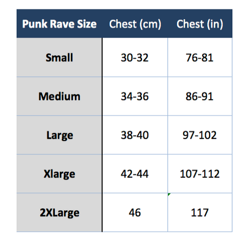 Spiral direct women's size chart