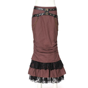 Leather & Lace Steampunk Skirt