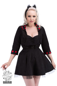 Black Red Polka Dot Bolero