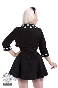 Black White Polka Dot Plus Size Bolero