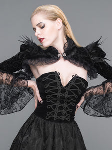 Feathers and Lace Shrug
