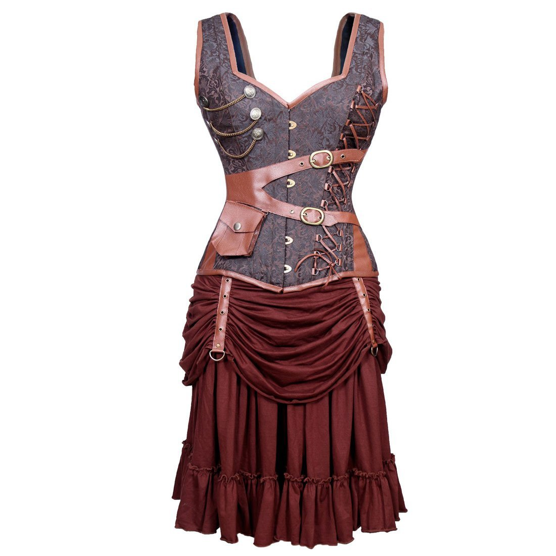 Steampunk Adventurer Corset Dress