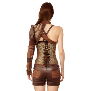 Tom Raider Steel Boned Corset Set ( Custom Made )