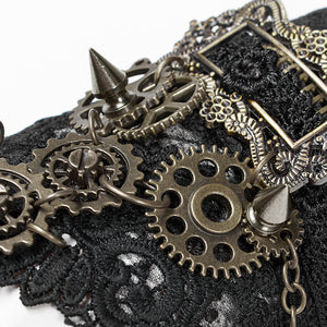 Steampunk Gears and Spikes Gloves