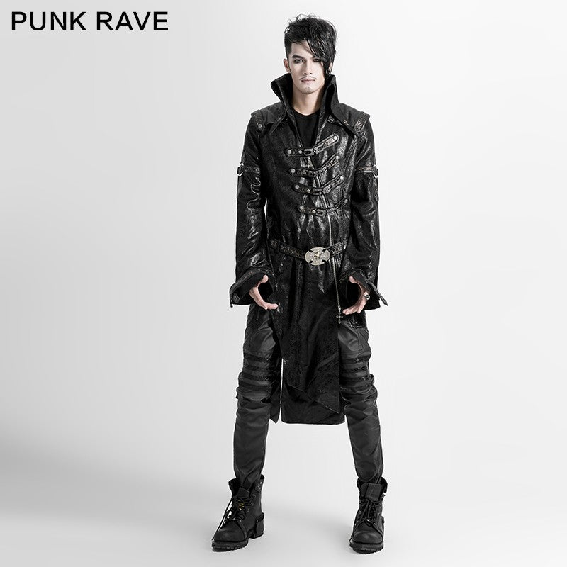 GOTHIC POST Apocalyptic STEAMPUNK Rave Victorian Punk Jacke TlcuJ3KF1