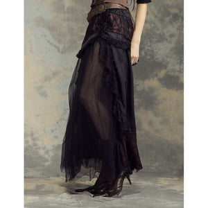 Steampunk long skirt