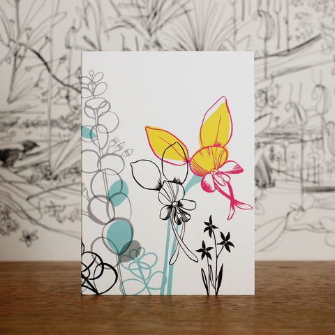Bookleaf Mallee & Donkey Orchid Card