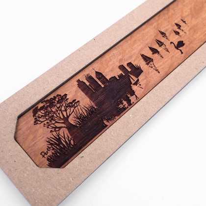 Perth City View Wooden Bookmark