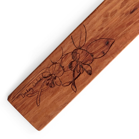 Donkey Orchid Wooden Bookmark