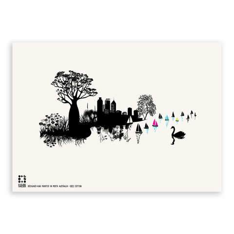 Perth City View Tea Towel