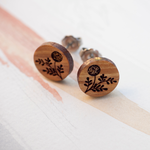 Wattle Wooden Earrings