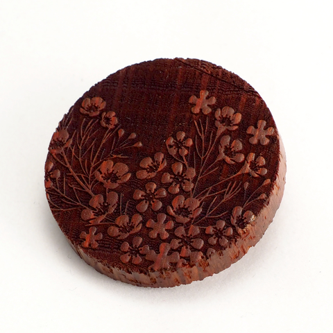 Waxflower Wooden Brooch