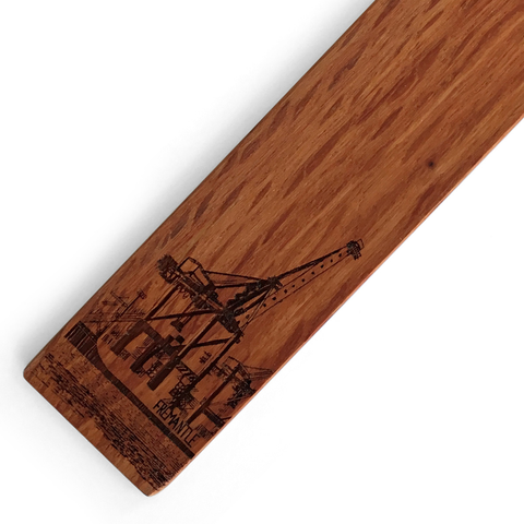 Arrival Cranes Wooden Bookmark