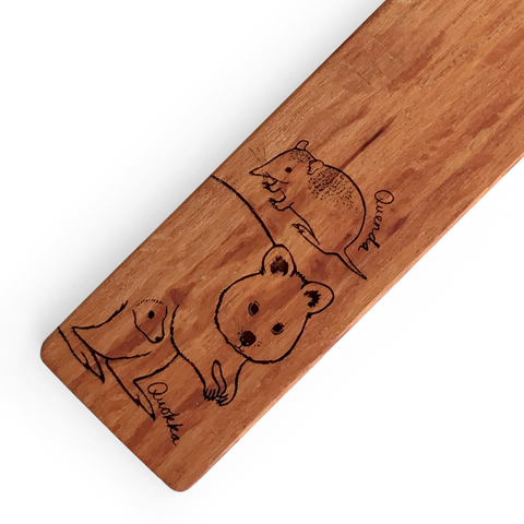 Quokka Quenda Wooden Bookmark