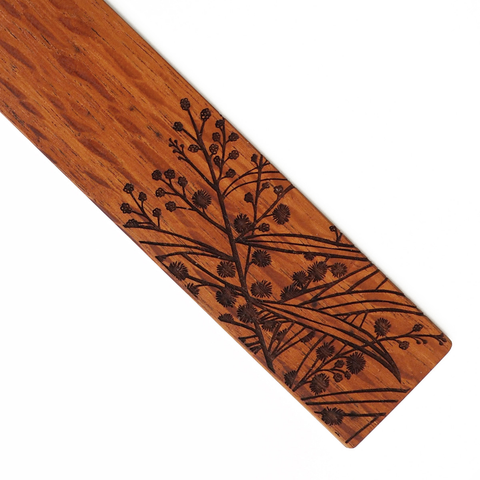 Wattle Wooden Bookmark