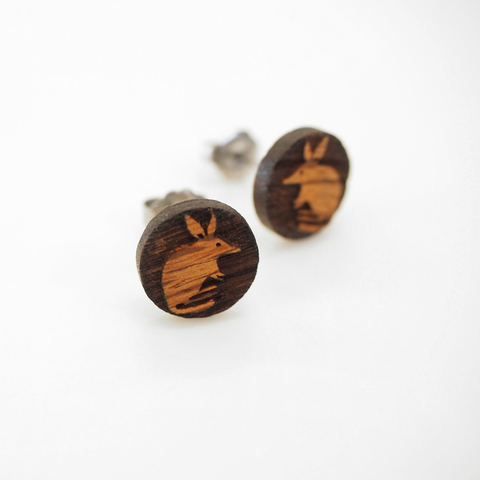Bilby Wooden Earrings