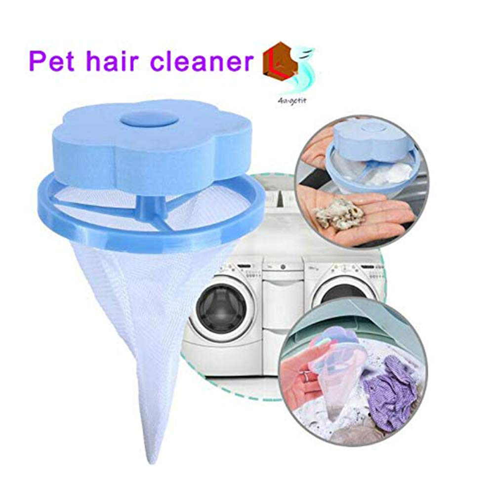 Reusable Washing Machine Hair Removal Laundry Ball Hair Catcher Filter Net Pouch
