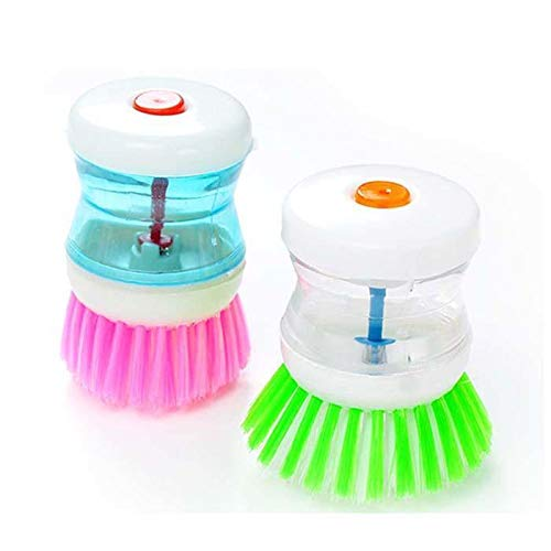 Creative Practical Kitchen Tools Automatically Add Liquid Cleaning Brush